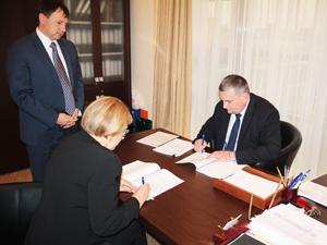 Подписание  Коллективного  договора   ОАО  <nobr>Квадра</nobr>,
