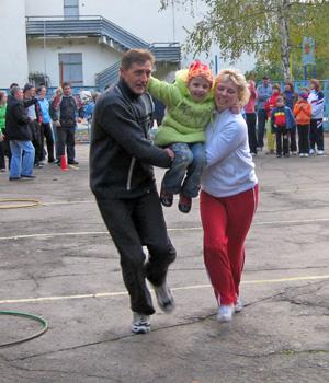 Cемейные соревнования «Папа, мама, я— спортивная семья»