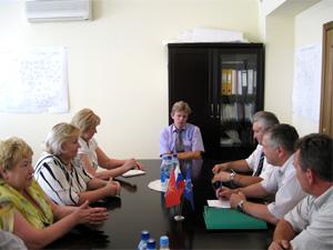 Официальная встреча делегаций