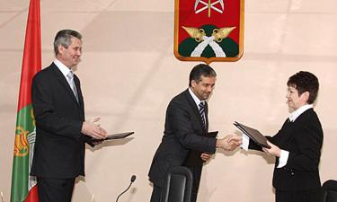 Церемония подписания трехстороннего Соглашения
